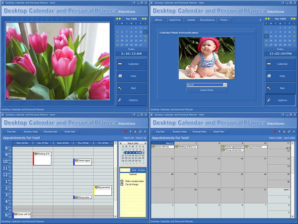 Desktop Calendar and Personal Planner