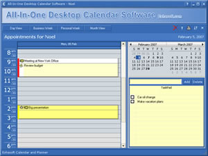 All in one desktop calendar software screenshots for Computer planner software
